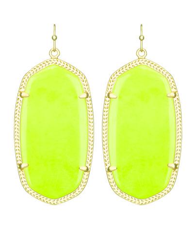 kendra danielle earrings neon yellow