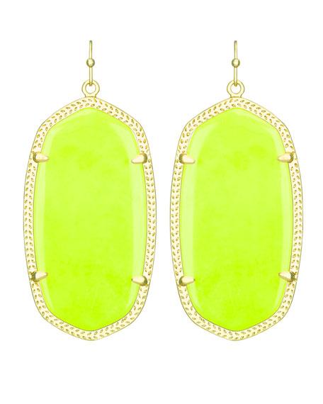 Danielle Earrings, Neon Yellow