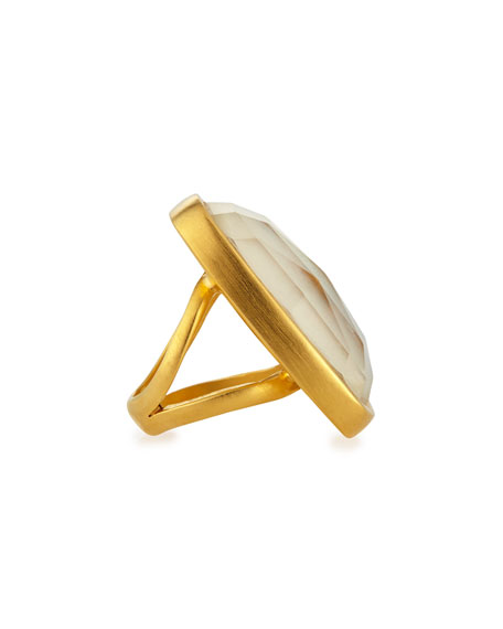 MOP DOUBLET RING