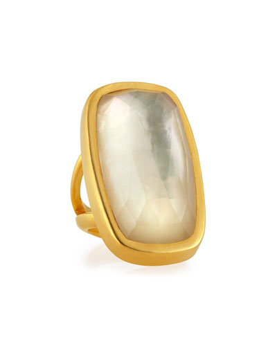Mother-of-Pearl Doublet Ring