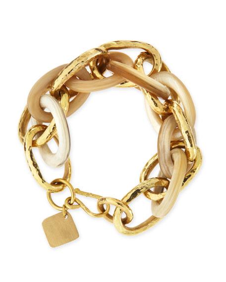 Ashley Pittman Ndovu Light Horn & Bronze Bracelet