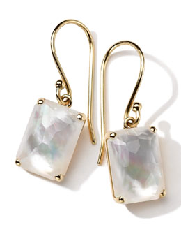 Ippolita 18k Gold Rock Candy Gelato Single Rectangle Drop Earrings, Mother-of-Pearl