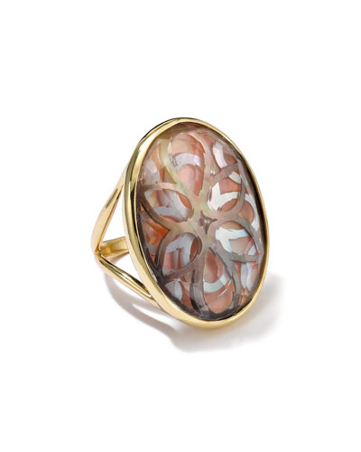 Ippolita 18K Gold Polished Rock Candy Oval Cutout Ring in Sabbia