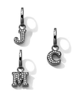 Ippolita Black Sterling Silver & Diamond Initial Charm