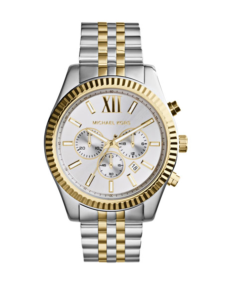 Michael Kors Mid-Size Two-Tone Stainless Steel Lexington Chronograph Watch