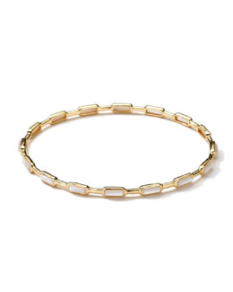 Ippolita 18k Gold Rock Candy Gelato 16-Stone Bangle, Mother-of-Pearl