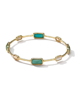 Ippolita 18k Gold Rock Candy Gelato 8-Stone Bangle, Sailor