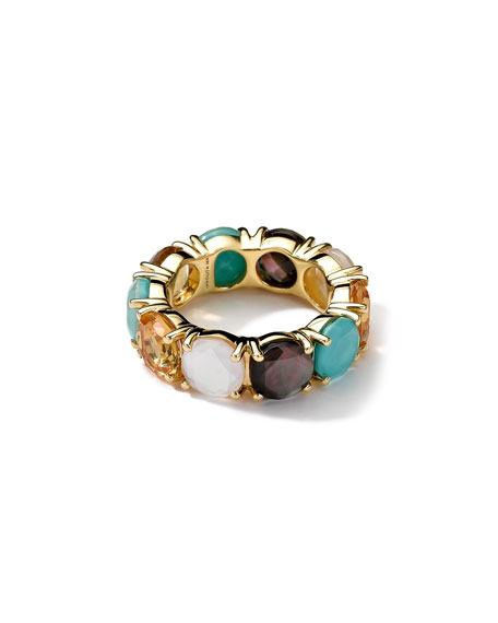 18k Gold Rock Candy Gelato Fancy Round All-Stone Ring, Sailor