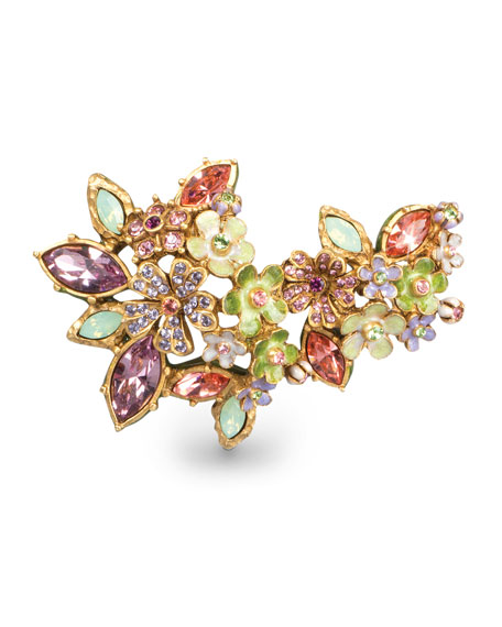 Jay Strongwater Naomi Floral Cluster Pin