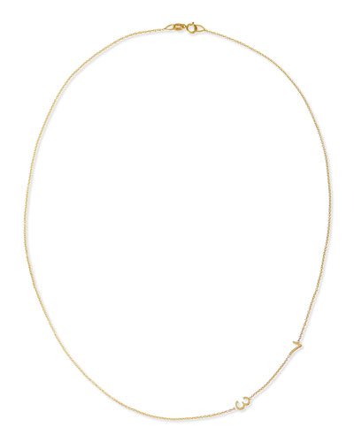Mini 2-Number Necklace  Yellow Gold
