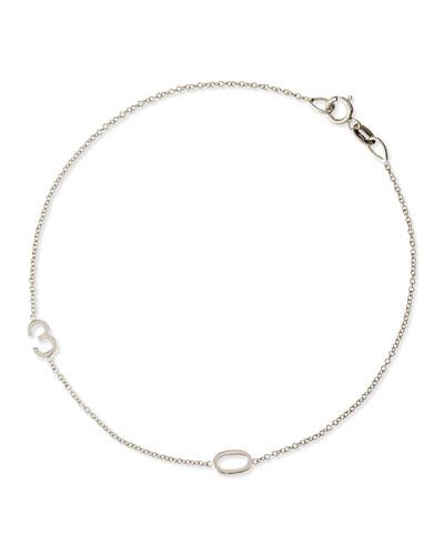 Mini 2-Number Bracelet  White Gold
