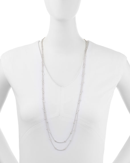 """Fantasia by DeSerio Cubic Zirconia By-the-Yard Necklace, 72""""L"""