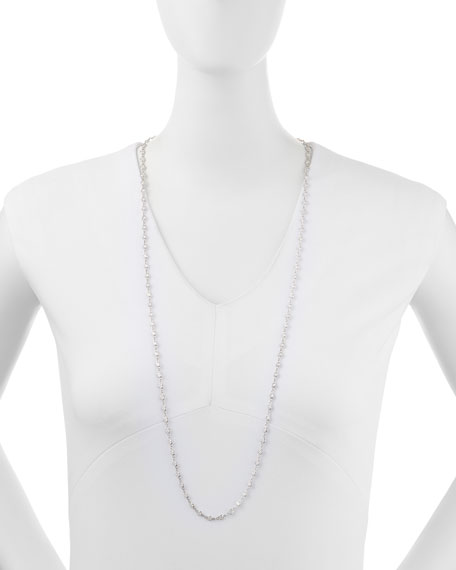 "Image 2 of 2: Fantasia by DeSerio 16.5 TCW Cubic Zirconia By-the-Yard Necklace, 36""L"