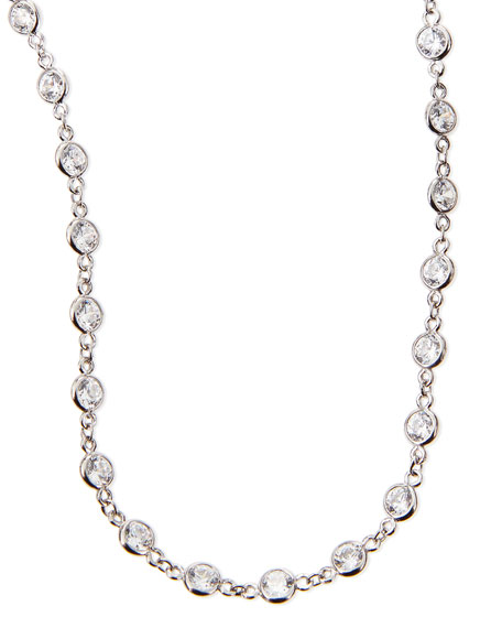 "Image 1 of 2: Fantasia by DeSerio 16.5 TCW Cubic Zirconia By-the-Yard Necklace, 36""L"