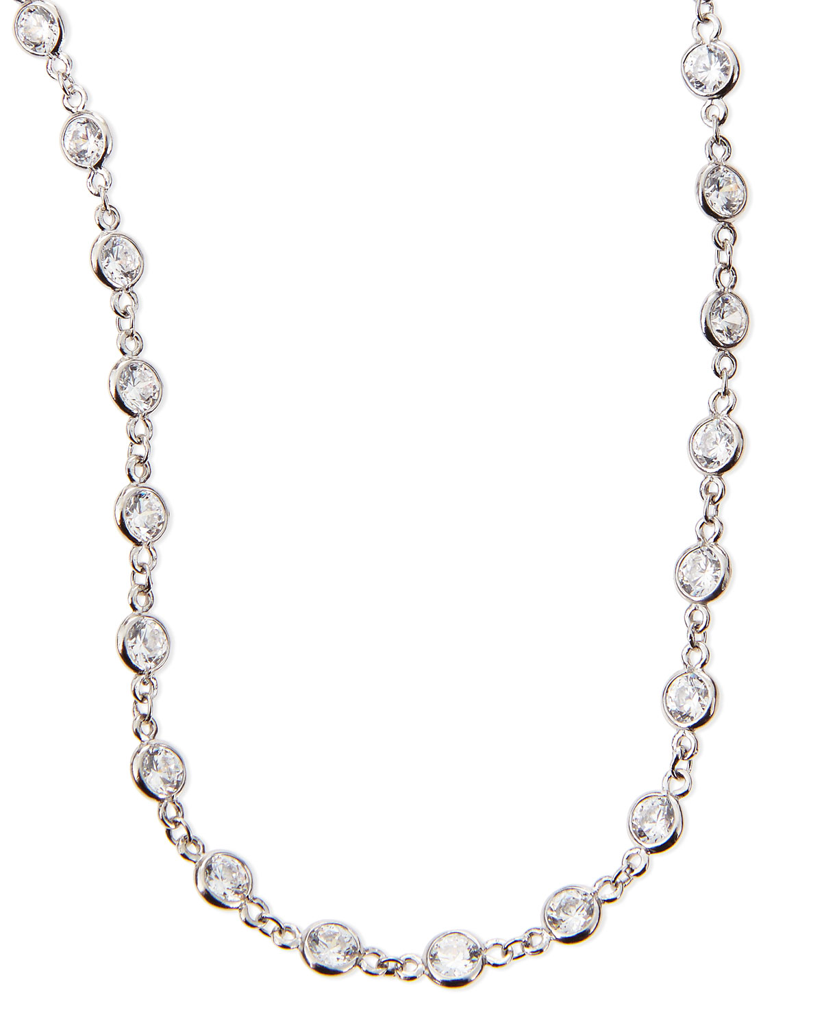 "Fantasia by DeSerio 16.5 TCW Cubic Zirconia By-the-Yard Necklace, 36""L"