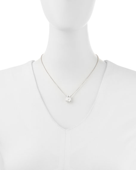 Image 2 of 2: Fantasia by DeSerio 6.0 TCW Cubic Zirconia Emerald-Cut Pendant Necklace
