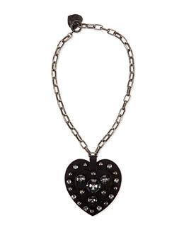 Lanvin Heart Pendant Necklace, Black