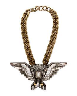 Lanvin Crystal Eagle Necklace