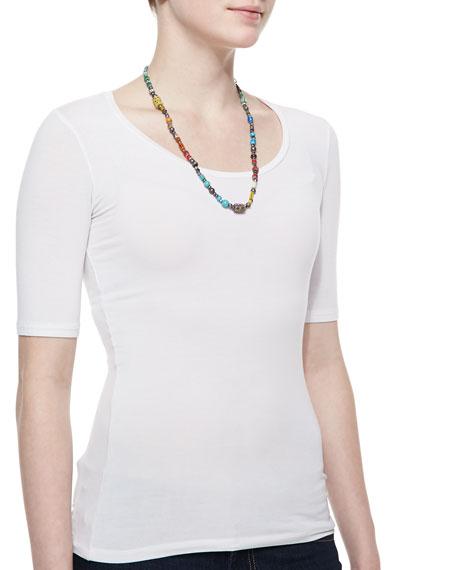 Single-Strand Multi-Bead Necklace