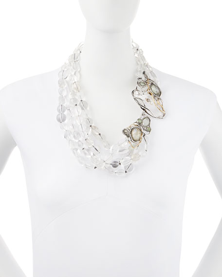 Jardin Mystere Clear Crystal Doublet Draped Necklace