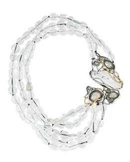 Alexis Bittar Jardin Mystere Clear Crystal Doublet Draped Necklace
