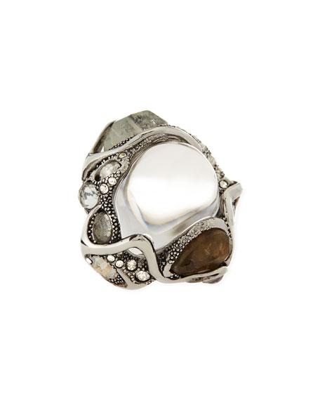 Jardin Mystere Crackle & Crystal Ring