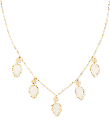 14k Gypsy Lux Moonstone Necklace