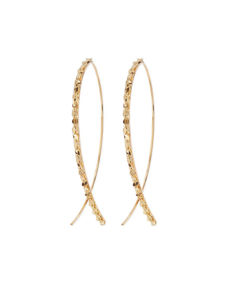 14k Glam Small Hook-On Hoop Earrings