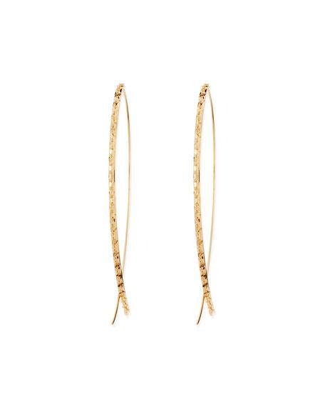 Lana 14k Large Glam Upside-Down Hoop Earrings