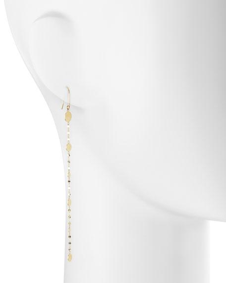 14k Long Shimmer Earrings