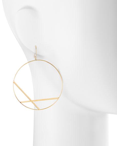 14k Large Affinity Hoop Drop Earrings