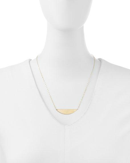 14k Gold Reflector Pendant Necklace