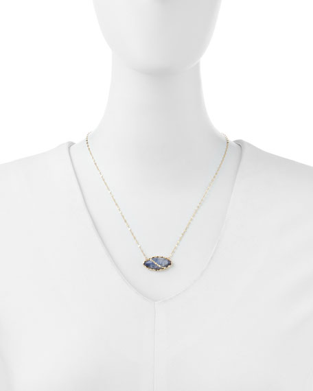 14k Mesmerize Marquise Onyx/Moonstone Necklace