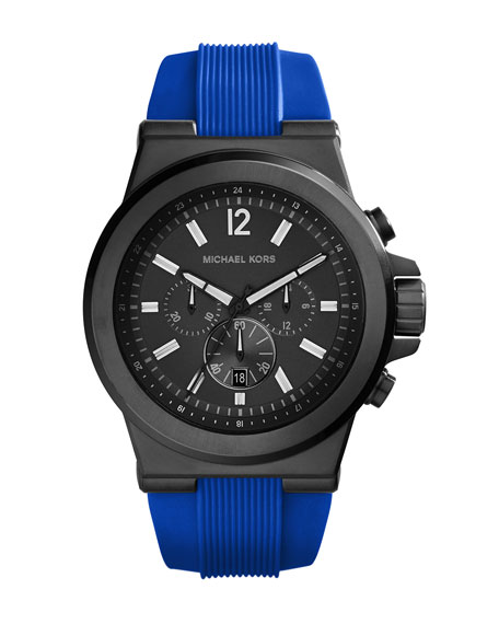 Michael Kors Men's Silicone/Stainless Steel Dylan Chronograph Watch