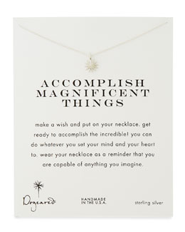 Dogeared Accomplish Magnificent Things Silver-Plated Necklace