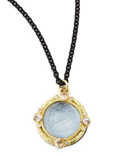 Armenta Old World Kyanite & White Quartz Pendant Necklace with Diamonds