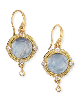 Armenta Old World Midnight 18k Gold Earrings with Kyanite & Diamonds