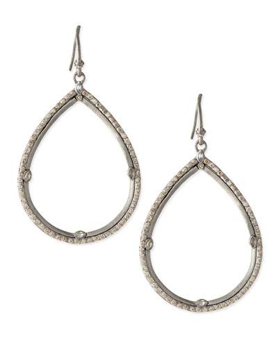 Armenta New World Silver & White Diamond Teardrop Earrings