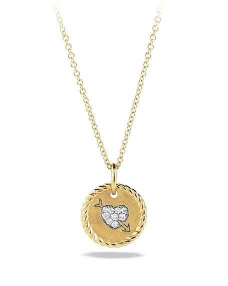Cable Collectibles Heart Charm with Diamonds in Gold