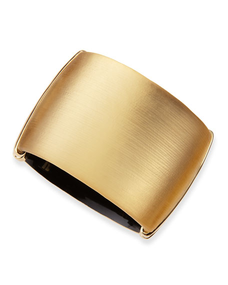 Golden Liquid Lucite Hinge Cuff