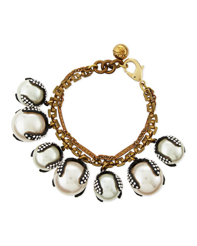 Decade Simulated Pearl Bracelet