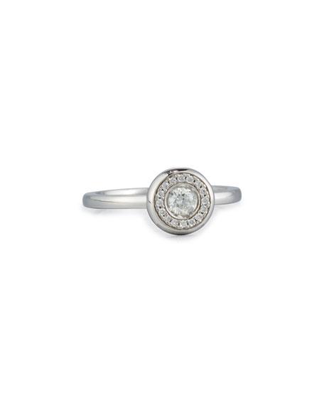 Roberto Coin 18k White Gold Diamond Station Ring