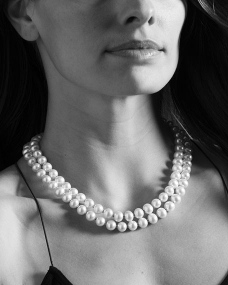 Luna Pearl Double-Strand Necklace