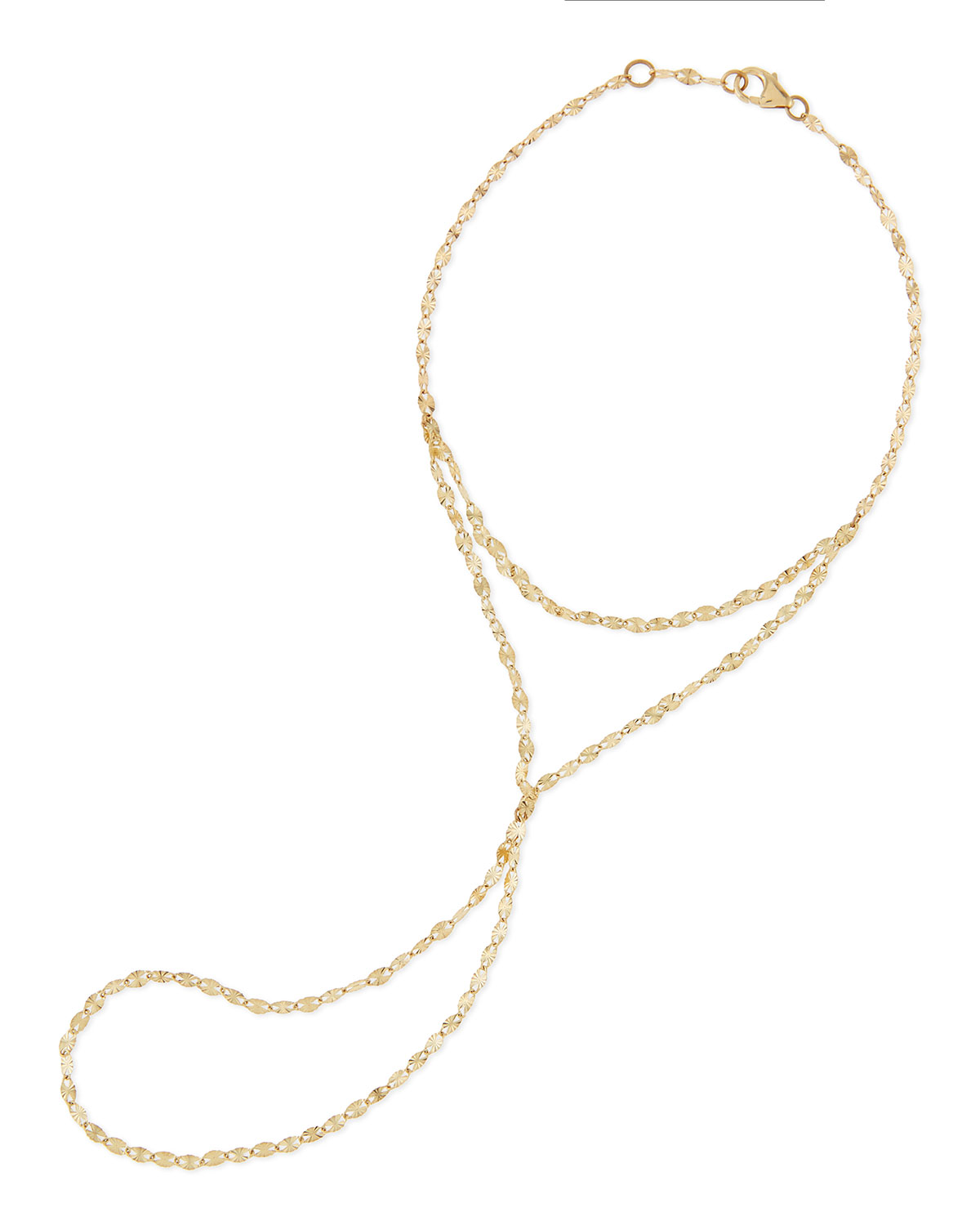 14-Karat Yellow Gold Mystique Hand Chain