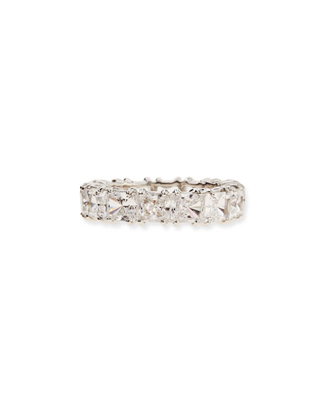Princess-Cut Cubic Zirconia Band Ring
