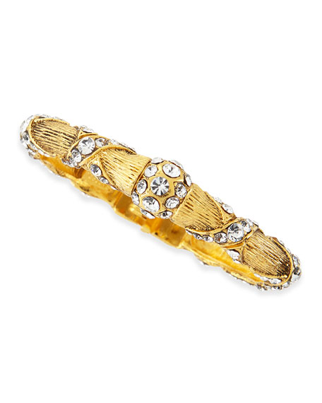 Jose & Maria BarreraGold Plated Crystal Ribbon Bracelet