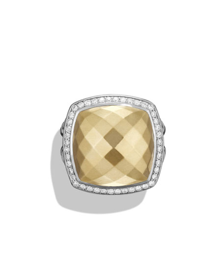 Albion Ring with Gold and Diamonds, Size 6