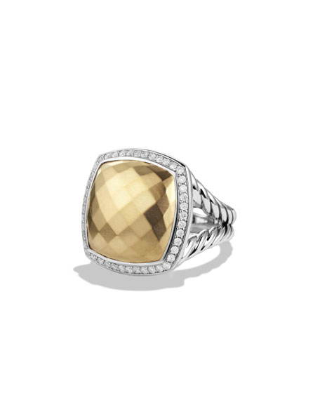 David Yurman Albion Ring with Gold and Diamonds,