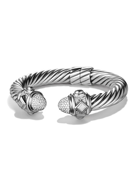 Sterling Silver Renaissance Bracelet with White Diamond