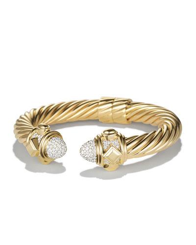 Yellow Gold Renaissance Bracelet with White Diamond